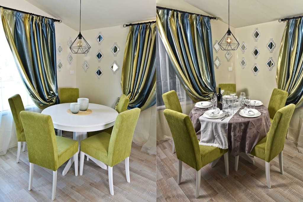 Go from casual to formal dining