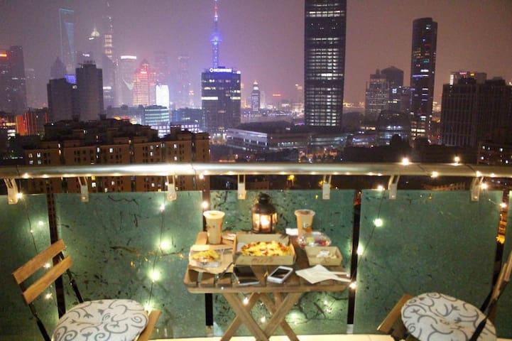 【The Bund&近南京路&双地铁】落地窗江景公寓105平两室整套 - Shanghai - Appartement