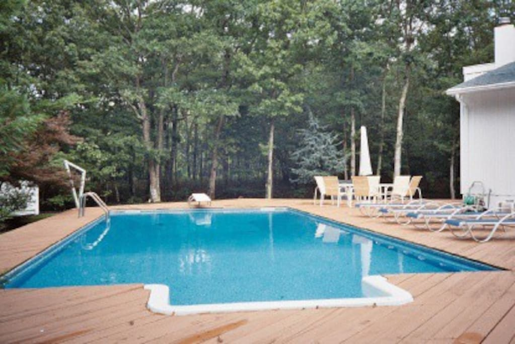 Heated pool and wraparound deck