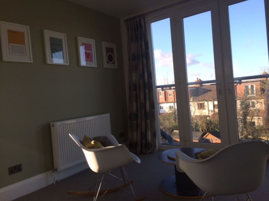 loft - reading area with view accross London