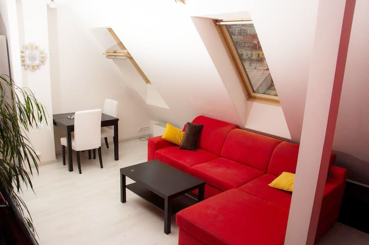 Stylish attic in Prague