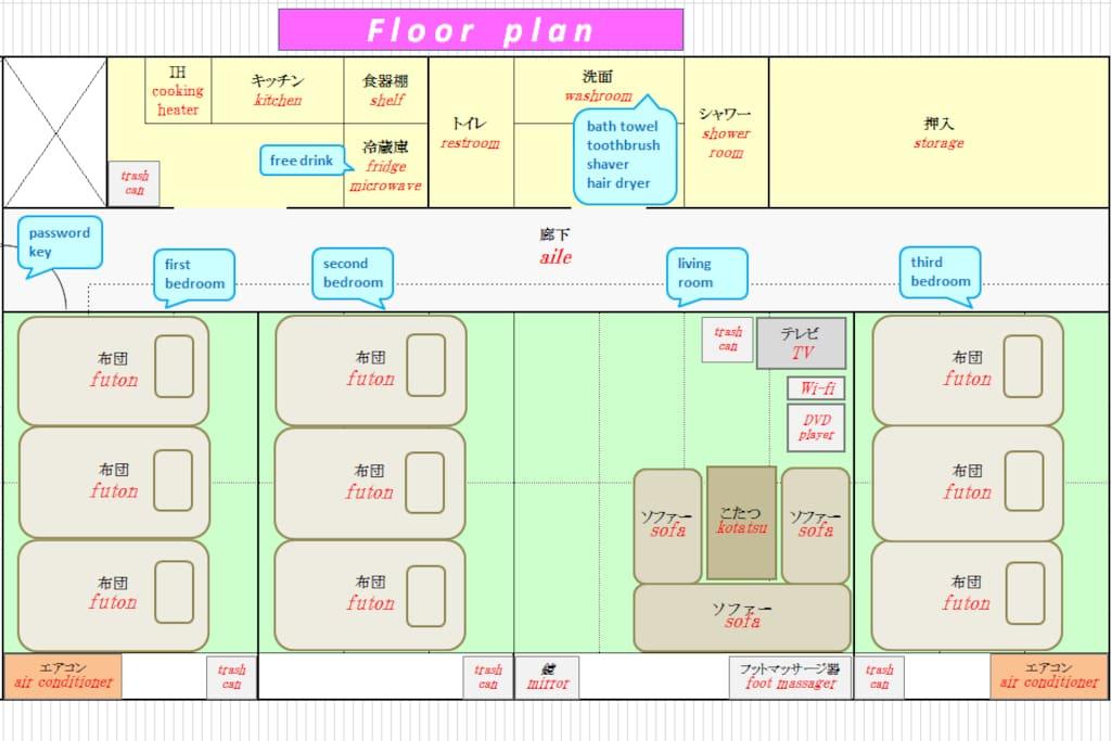 Floor plan ( 2nd floor )