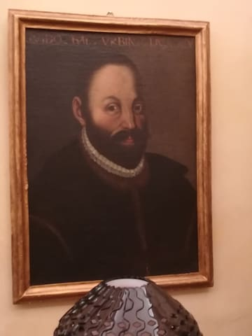 Ritratto di Guidobaldo ll della Rovere, quinto duca di Urbino, che dà il nome alla stanza