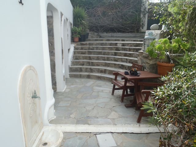 two stone build beds garden view in town 121