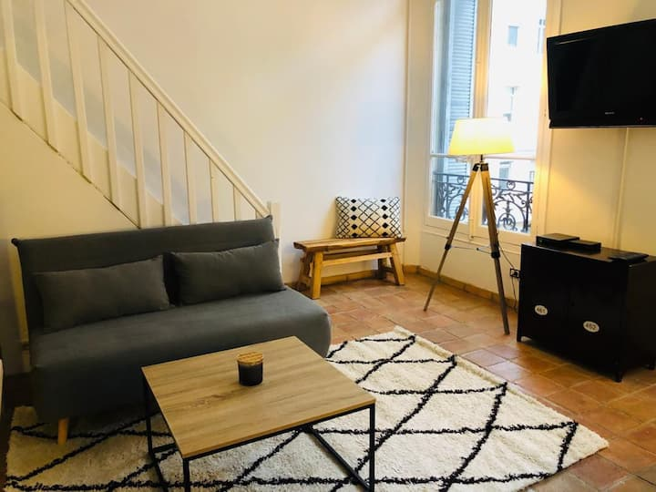 Duplex Rue Montaigne, 200m Palais des festivals