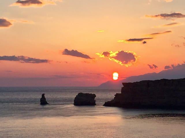 Romantic Sunset Room in Triopetra, Crete