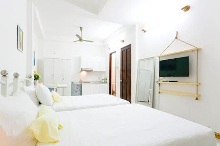 Twinbeds Studio 10min BenThanh Market - Ho Chi Minh City - Apartment