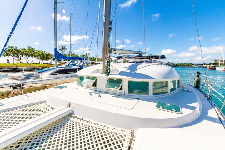 private yacht in prime location