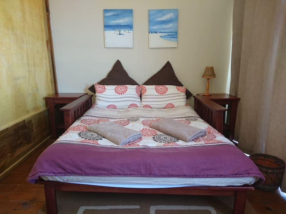Bedroom #3 on mezzanine with double bed