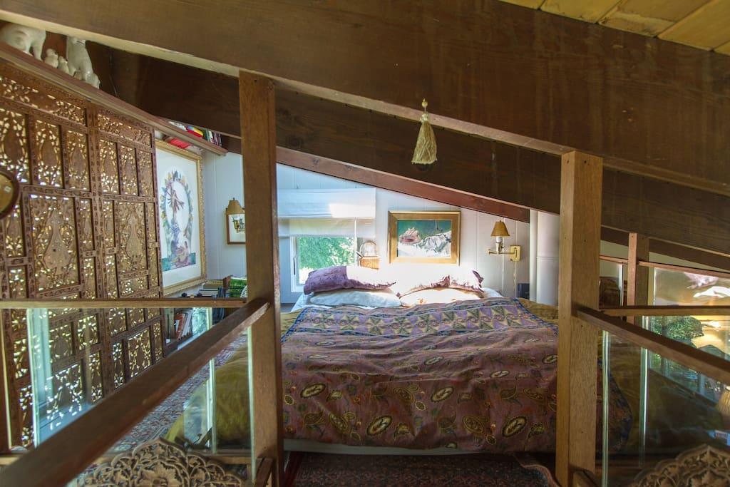Queen loft bed