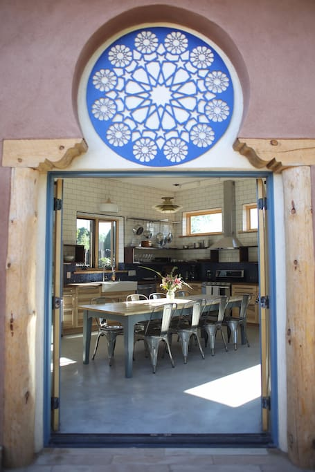 Courtyard french doors with Islamic mandala detail
