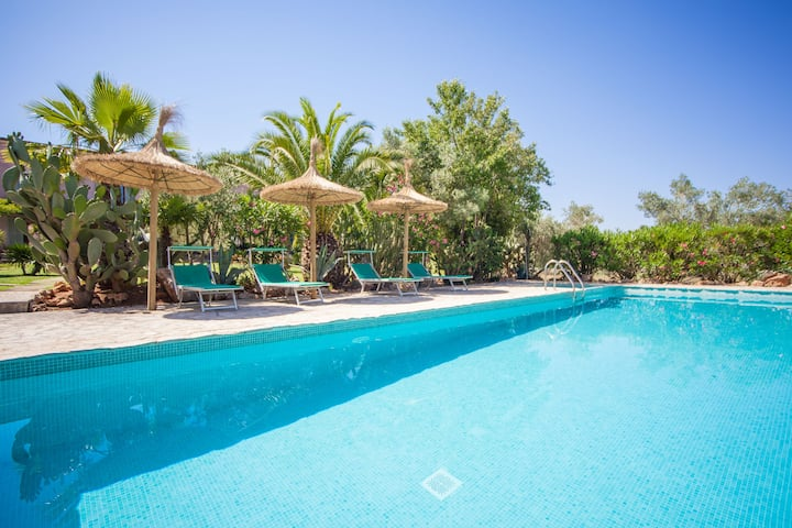 CAN PINA (ECO ARCO) - Apartment with shared pool in Costitx. Free WiFi