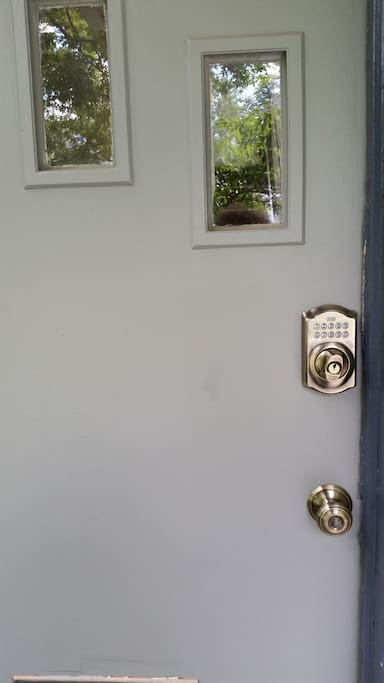 Private entry with digital keypad