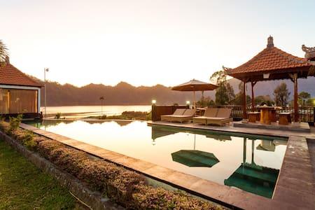 #1 Gorgeous Lake Front Villa at Kintamani Area