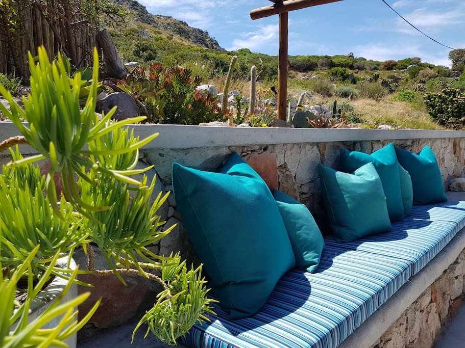 Mountainside garden made super comfortable with our brand new boma cushions.