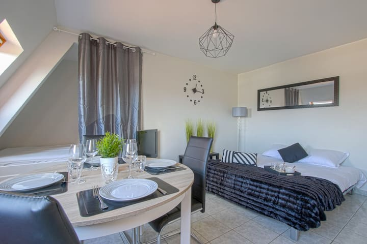 COMFORTABLE STUDIO IN RESIDENCE WITH SWIMMING POOL -CLOSE BEACH (DEAUVILLE)