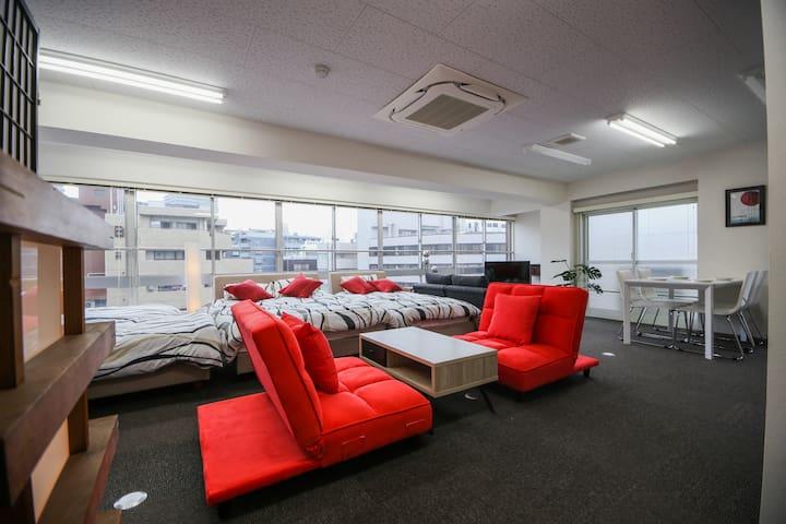 Real Center of Tokyo, Wide and Bright room - Kandajimbocho, Chiyoda-ku - Leilighet