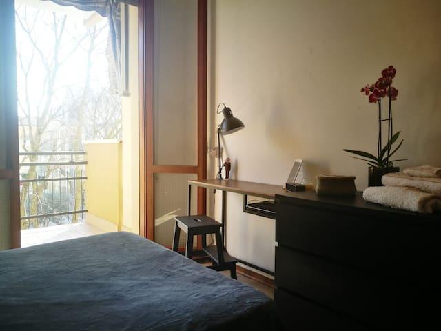La stanza dispone di un terrazzo privato