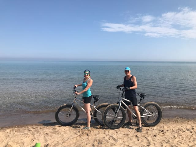Riding the Fat Tires at Porter Beach