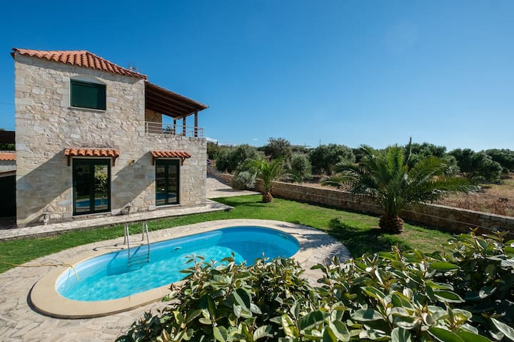 Stone Villa with Pool & Garden, near the Beach!