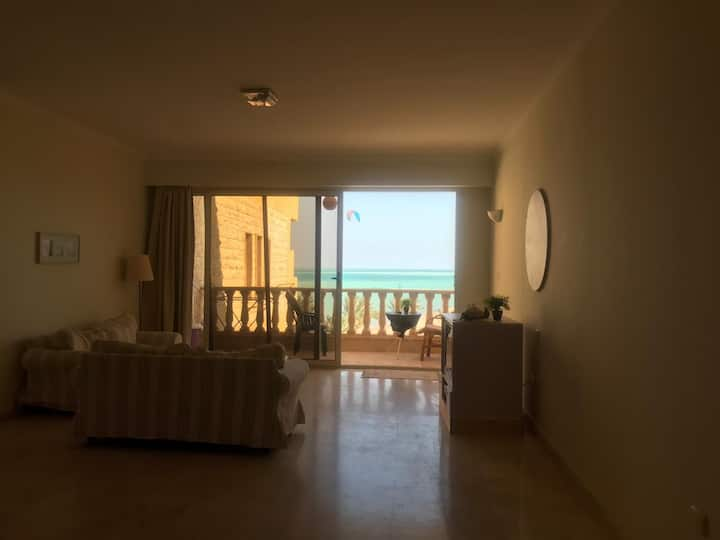 Apartment in palama resort in Hurghada Sea view .