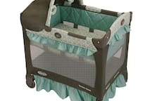 Graco Travel lite crib with stages available upon request