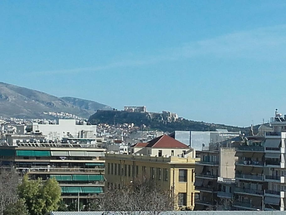 Amazing view of Acropolis, from appartment's balcony.