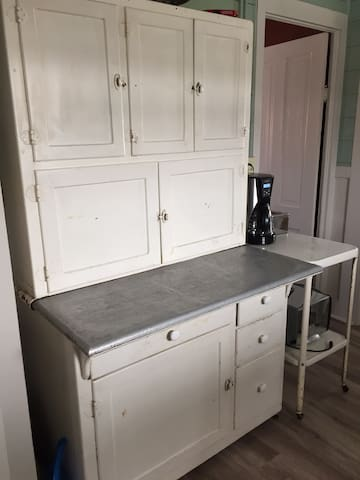 Hoosier cabinet, lots of room for all your snacks