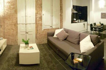 Modern spacious loft for 4 pers - Barcelona