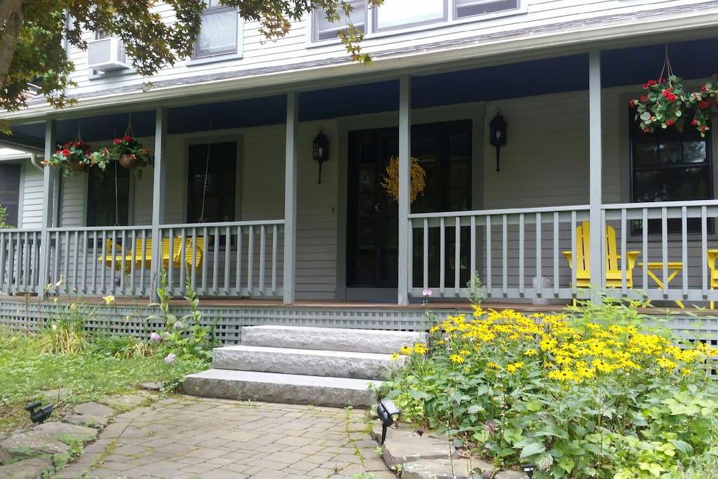 Four Bedroom Colonial with farmers porch and large rear deck with grill