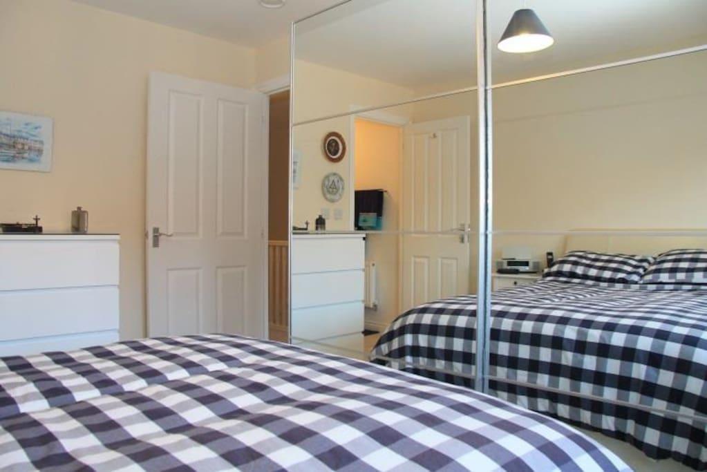 The double en-suite bedroom