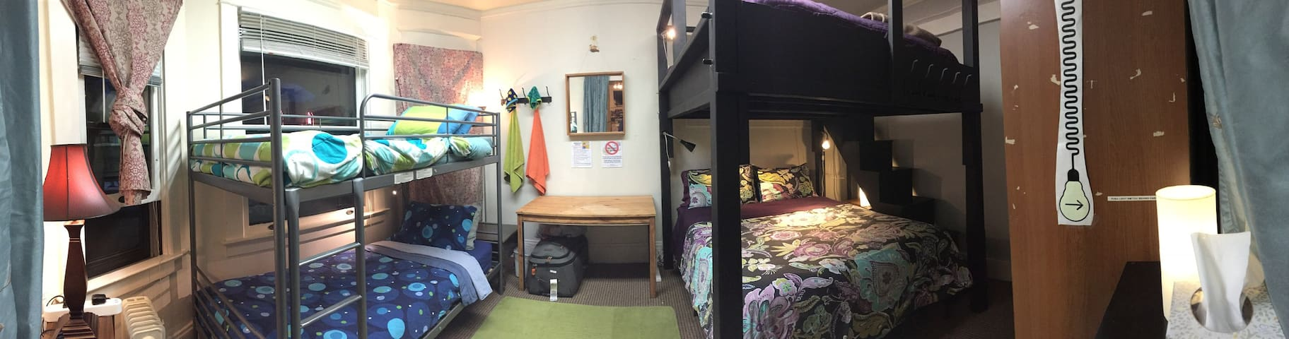 BUNKHOUSE (Bottom Queen Bed) Super Cntrl LOCATION!