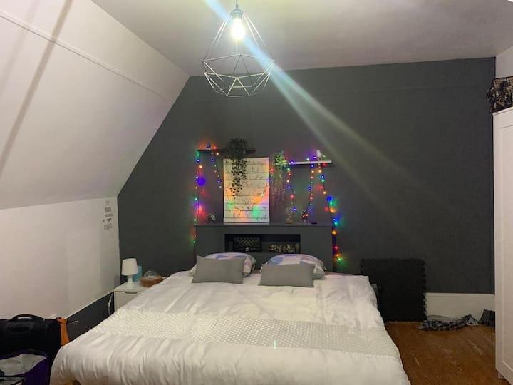 Chambre cosy de 20m2 dans une maison meulière