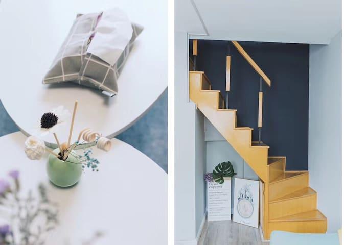 漫归出品1  loft北欧设计师网红小屋,拍照首选,火车站/天主教堂/栈桥/大学路十分钟车程可达。