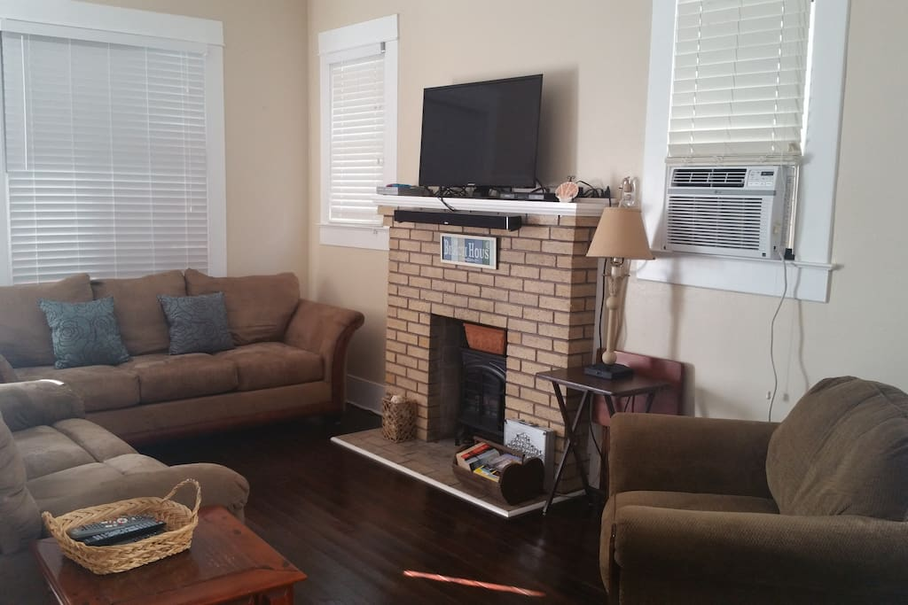 Couch, Furniture, Chair, Fireplace, Hearth