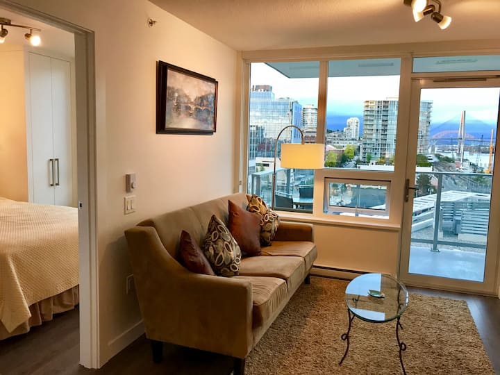 Brand new New Westminster condo with a great view