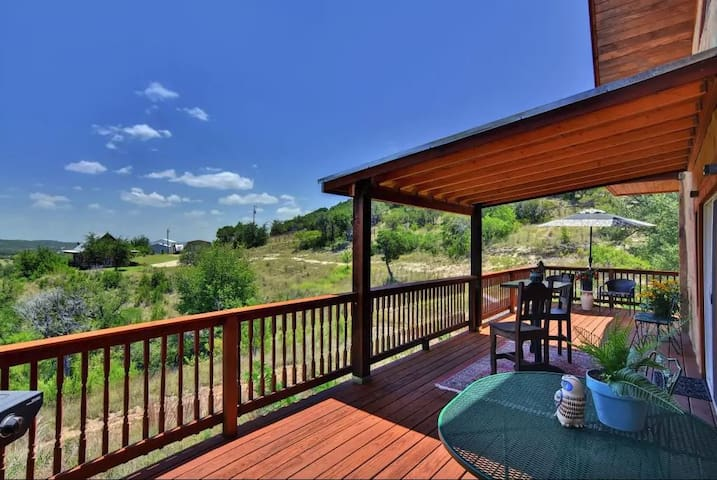 Relax on the wrap around deck!