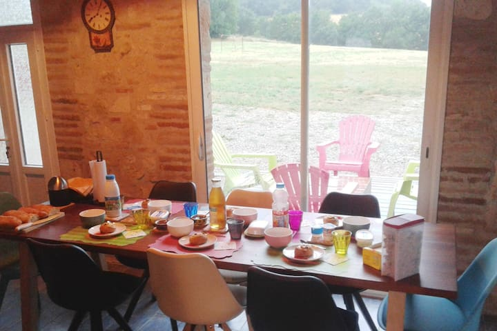 cuisine et salle a manger commune