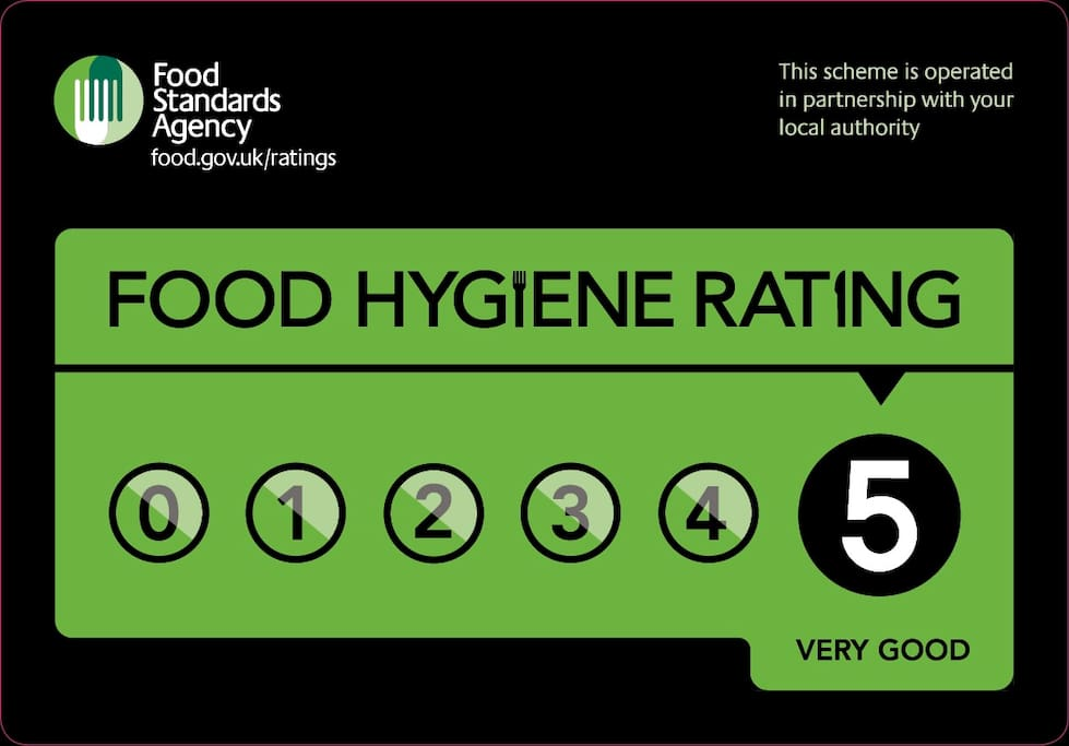 I Have a Five Star Rating for Hygiene