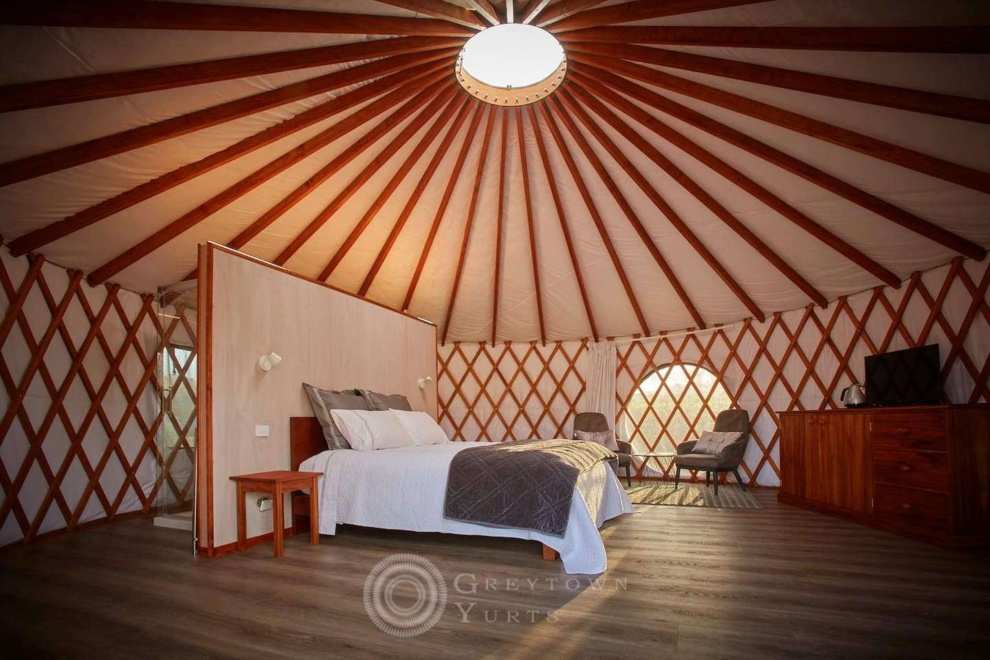 The gorgeous interior of your yurt