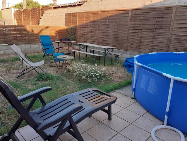 Maison individuelle avec piscine a 10mn de la mer