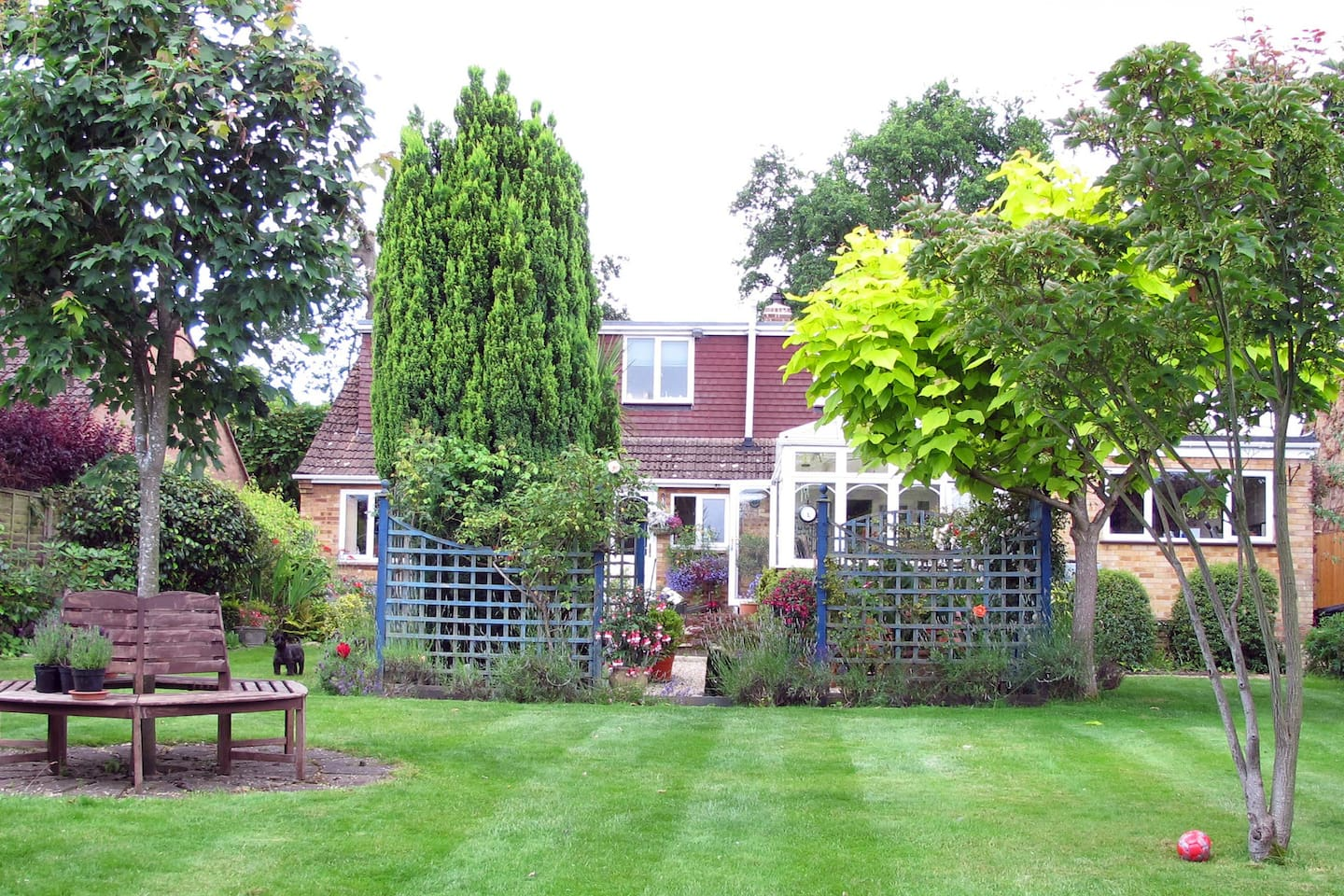 View of the house from back garden.