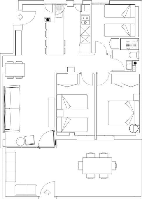 Plano de la vivienda