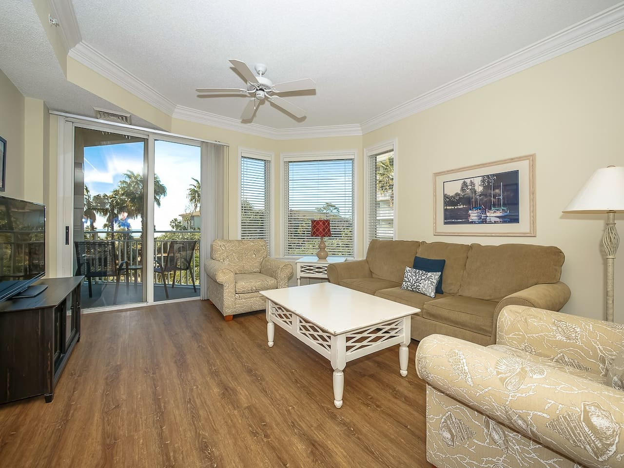 Living Room with Balcony Access at 2206 Sea Crest
