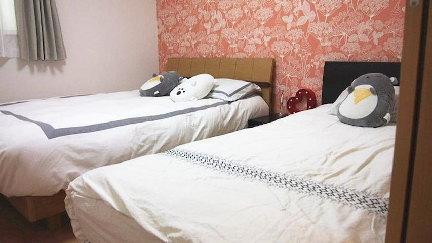 3F卧室➁ 1.4m双人床+单人床