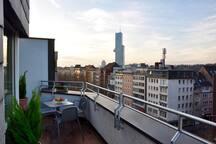 stunning view from roof terrace - atemberaubende Sicht von der Terrasse