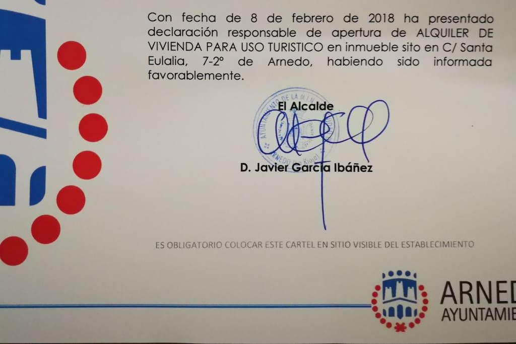 Documento acreditativo emitido por Ayuntamiento