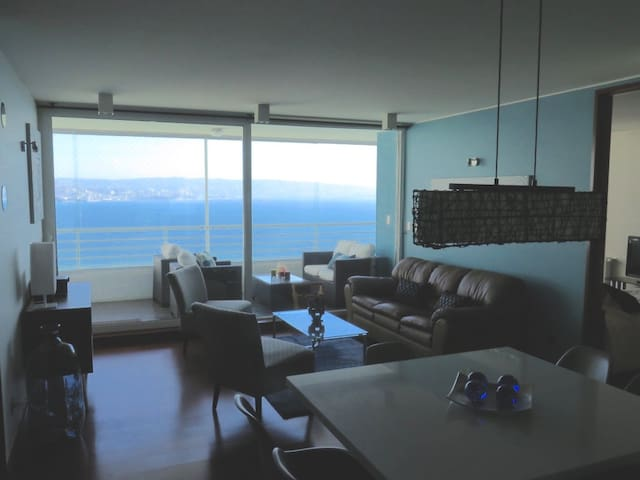 Wonderful2BR Best Ocean View Reñaca