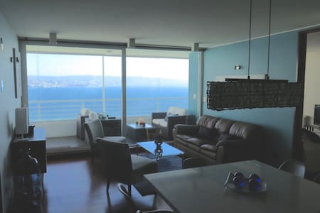 Wonderful2BR Best Ocean View Reñaca