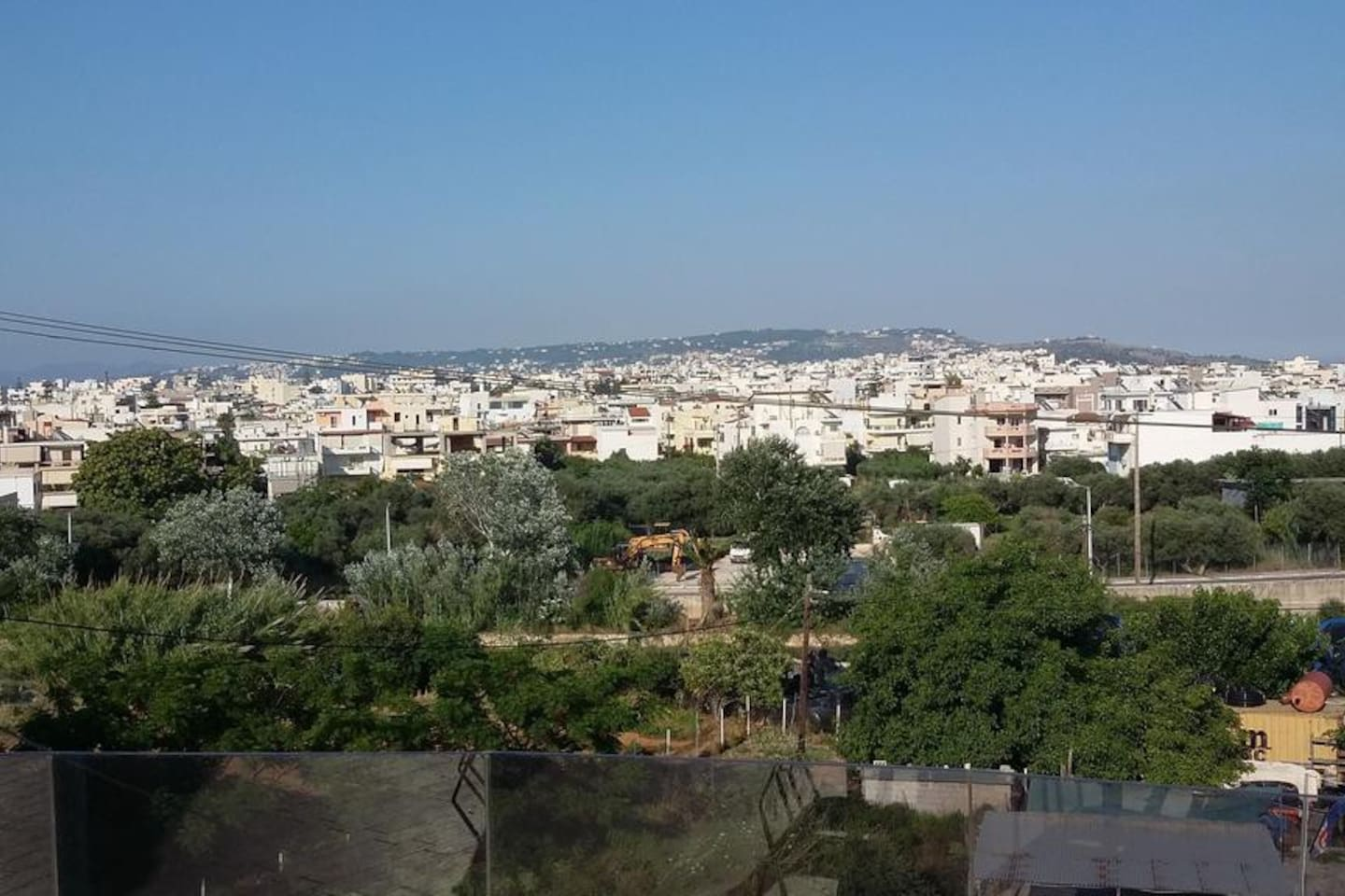 city view from terrace